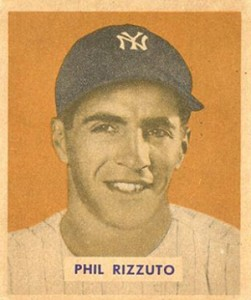 1949 Bowman Phil Rizzuto Name on Front
