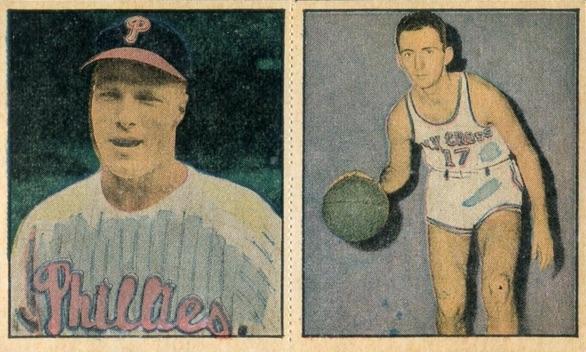 1951 Berk Ross Bob Cousy #1-11 Richie Ashburn #1-9