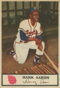 1955 Johnston Cookies Hank Aaron Front