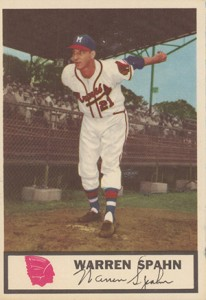 1955 Johnston Cookies Warren Spahn