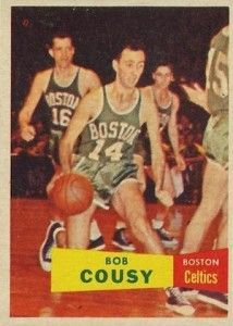 1957-58 Topps Bob Cousy RC #17