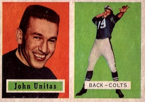 1957 Topps Johnny Unitas RC #138