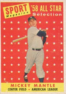 Mickey Mantle Topps Cards - 1952 to 1969 8