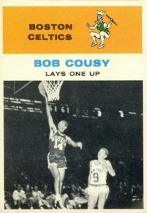 1961-62 Fleer Bob Cousy #49 Lays One Up