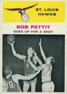 1961-62 Fleer Bob Pettit #59 Action