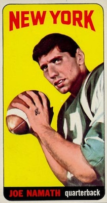 1965 Topps Joe Namath RC #122 butterfly variation
