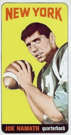 Celebrate the Career of Broadway Joe with the Top Joe Namath Football Cards 1