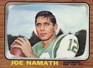 Celebrate the Career of Broadway Joe with the Top Joe Namath Football Cards 3