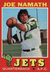 1971 Topps Football Joe Namath #250
