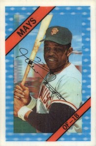 1972 Kellogg's Baseball Willie Mays