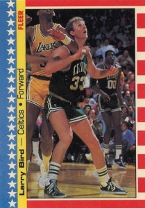 1987-88 Fleer Basketball Stickers Larry Bird