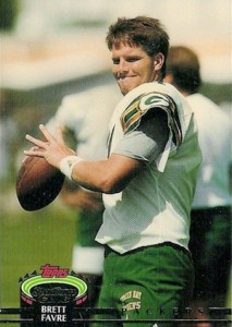 1992 Stadium Club Football High Number Brett Favre front