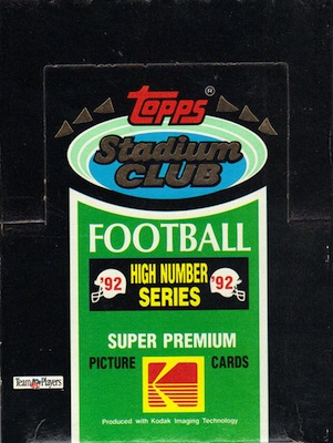1992 Stadium Club Football Cards 40