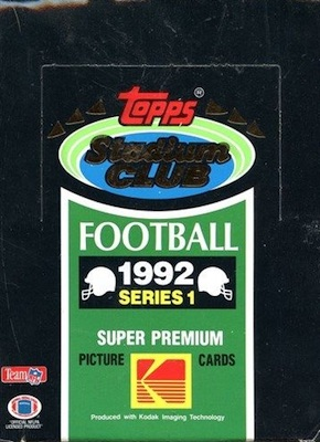 1992 Stadium Club Series 1 Football Boxes