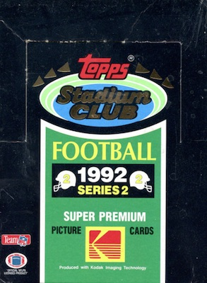 1992 Stadium Club Series 2 Football Boxes