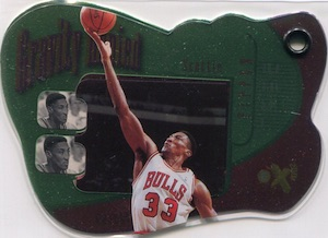 1997-98 Skybox EX2001 Basketball Gravity Denied Scottie Pippen