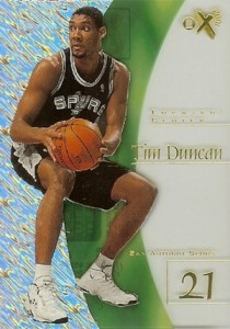 1997-98 Skybox EX2001 Basketball Tim Duncan RC