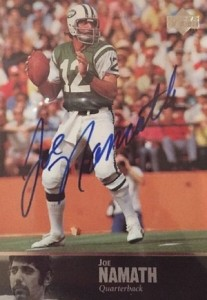 1997 Upper Deck Legends Autographs Joe Namath #AL-3