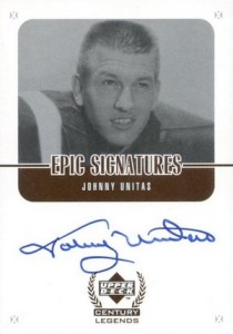 1999 Upper Deck Century Legends Epic Signatures Johnny Unitas #JU