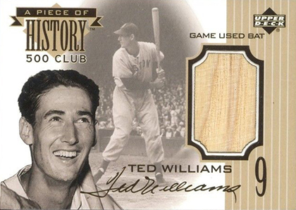 1999 Upper Deck Piece of History 500 Club Ted Williams