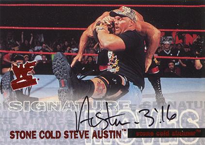 2001 Fleer WWF Wrestlemania Autographs Stone Cold Steve Austin