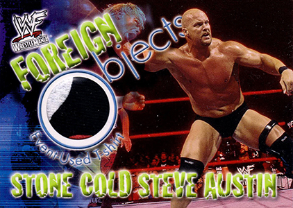 2001 Fleer WWF Wrestlemania Foreign Objects Stone Cold Steve Austin