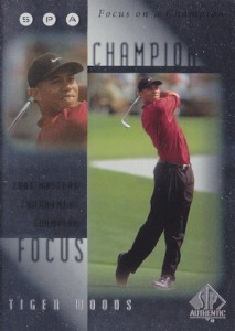 2001 SP Authentic Golf Focus of a Champion Tiger Woods