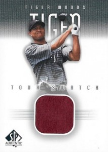 2001 SP Authentic Golf Tour Swatch Base Tiger Woods