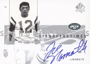 2001 SP Authentic Sign of the Times Joe Namath