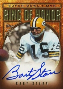 2002 Topps Ring of Honor Autographs Bart Starr Super Bowl 1 I MVP