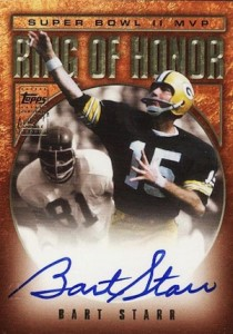 2002 Topps Ring of Honor Autographs Bart Starr Super Bowl 2 II MVP