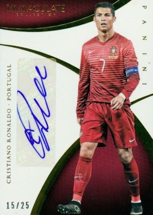 2014-15 Panini Immaculate Collection Basketball Sports Variations Autographs Cristiano Ronaldo