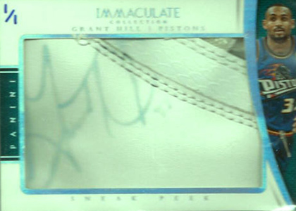 2014-15 Panini Immaculate Sneak Peek Grant Hill