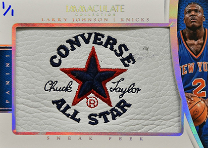2014-15 Panini Immaculate Sneak Peek Larry Johnson Chuck Taylor