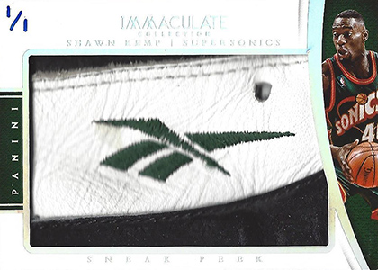 2014-15 Panini Immaculate Sneak Peek SP-SK Shawn Kemp Reebok Logo