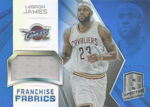2014-15 Panini Spectra Basketball Franchise Fabrics Prizms LeBron James