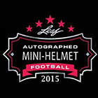 2015 Leaf Autographed Mini-Helmet Football