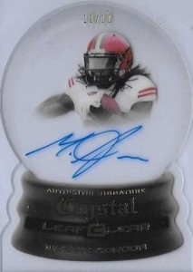 2015 Leaf Clear Football Crystal Die-Cut Autograph Melvin Gordon