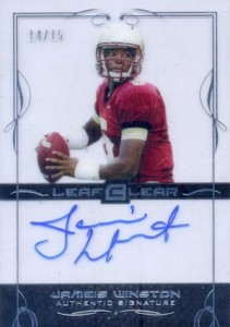 2015 Leaf Clear Football Silver Autograph Jameis Winston