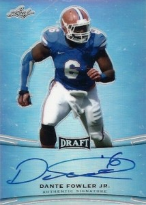 2015 Leaf Metal Draft Autograph Dante Fowler Jr