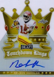 2015 Leaf Metal Draft Touchdown Kings Gold Autograph Nelson Agholor
