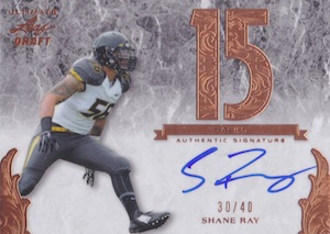 2015 Leaf Ultimate Draft Numbers Autograph Shane Ray