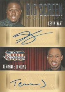 2015 Panini Americana Big Screen Combo Signatures Kevin Hart