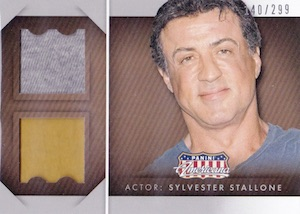 2015 Panini Americana Double Materials Sylvester Stallone