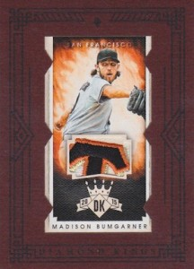 2015 Panini Diamond Kings Baseball Framed Mini Materials Prime Bumgarner