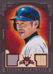 2015 Panini Diamond Kings Baseball Studio Potraits Framed Materials Ichiro