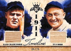 2015 Panini Diamond Kings Baseball Timeline Materials