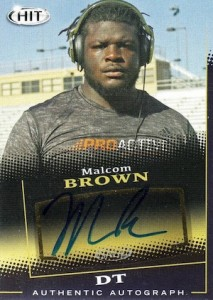 2015 Sage Hit Autograph Malcom Brown