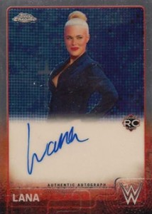 2015 Topps Chrome WWE Autographs Lana