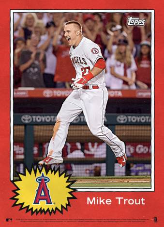 2015 Topps MLB Star Wars Tribute Mike Trout